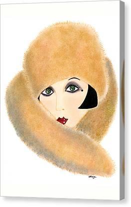 Art Deco Lady - Vivian Canvas Print