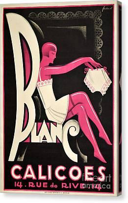Art Deco Paris Lingerie Ad Canvas Print