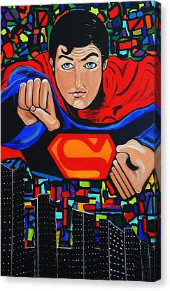 Art Deco  Superman Canvas Print