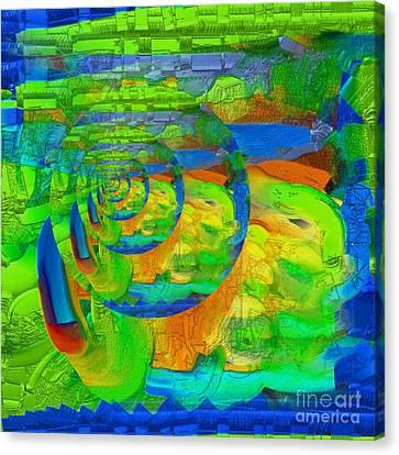 Art Digital Abstrait Abstract Digital Art Canvas Print by Carole Thivierge