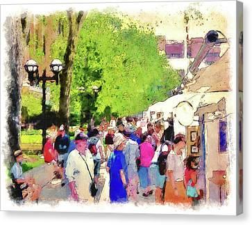 Art Fair In Ann Arbor Canvas Print by Phil Perkins