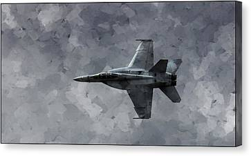 Canvas Print featuring the photograph Art In Flight F-18 Fighter by Aaron Lee Berg