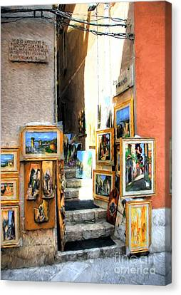 Art In Taormina Canvas Print