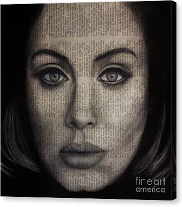Art In The News 72-adele 25 Canvas Print by Michael Cross