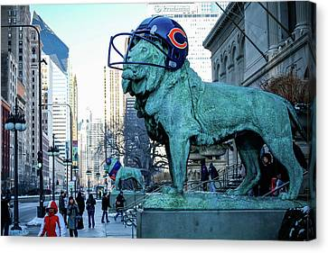 Art Institute Of Chicago Lions Canvas Print