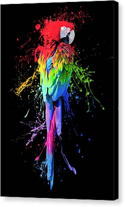 Art Interrupted Canvas Print by Janet Fikar