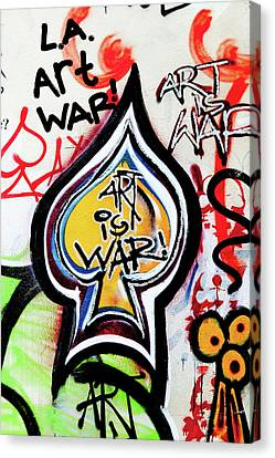 Canvas Print featuring the photograph Art Is War by Art Block Collections