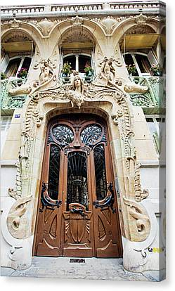 Canvas Print featuring the photograph Art Nouveau Doors - Paris, France by Melanie Alexandra Price