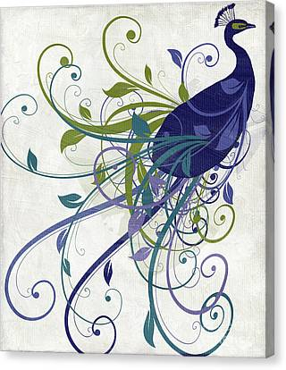 Peafowl Canvas Print - Art Nouveau Peacock I by Mindy Sommers