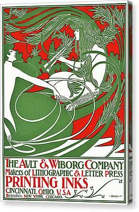 Art Nouveau Poster Depicting Pan, 1895 Canvas Print