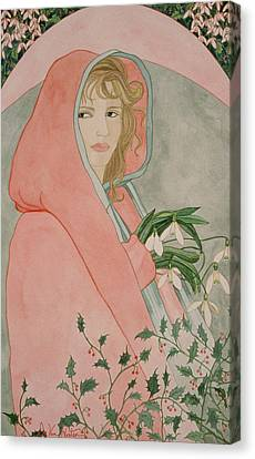 Art Nouveau Snowdrops Canvas Print
