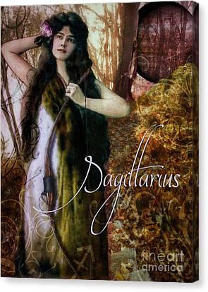 Art Nouveau Zodiac Sagittarius Canvas Print by Mindy Sommers