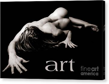 Art Of A Woman Canvas Print by Jt PhotoDesign