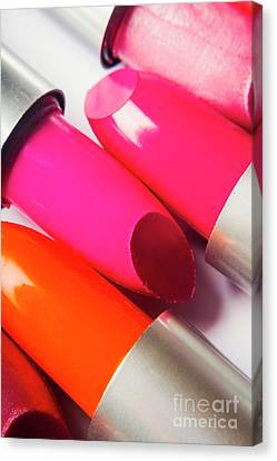 Pink Lipstick Canvas Print - Art Of Beauty Products by Jorgo Photography - Wall Art Gallery