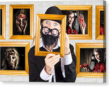 Youthful Canvas Print - Art Of Halloween Horror by Jorgo Photography - Wall Art Gallery