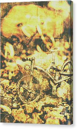 Art Of Mountain Biking Canvas Print