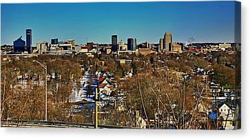 Art Prize City Grand Rapids Mi Canvas Print by Robert Pearson