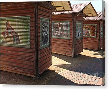 Art Shacks Old Town Canvas Print by Cheryl Del Toro