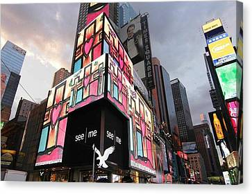 Art Takes Times Square Canvas Print