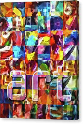 Abstract Expressionism Canvas Print - Art Type by Lutz Baar