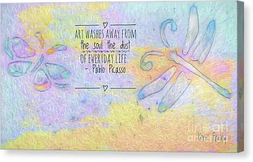 Canvas Print featuring the painting Art Washes The Soul by Kerri Farley