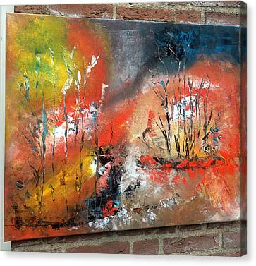 Canvas Print featuring the painting Art Work by Sheila Mcdonald