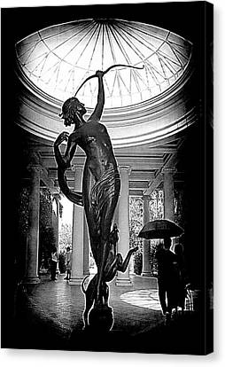 Canvas Print featuring the photograph Artemis At Huntington Library by Lori Seaman
