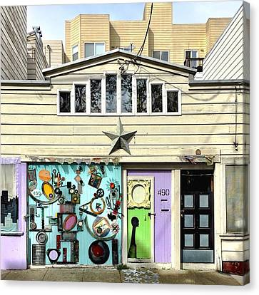 Artful Door Canvas Print by Julie Gebhardt