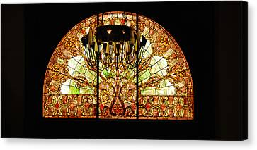 Artful Stained Glass Window Union Station Hotel Nashville Canvas Print by Susanne Van Hulst