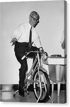 Arthur Goldberg Rides Canvas Print by Underwood Archives