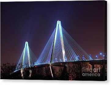 Atlanta Convention Canvas Print - Arthur Ravenel Bridge by Corky Willis Atlanta Photography