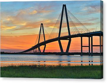 Arthur Ravenel Jr. Bridge At Dusk - Charleston Sc Canvas Print