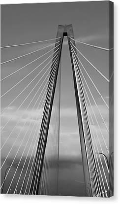 Arthur Ravenel Jr Bridge II Canvas Print by DigiArt Diaries by Vicky B Fuller