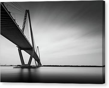 White River Canvas Print - Arthur Ravenel Jr Bridge Iv by Ivo Kerssemakers