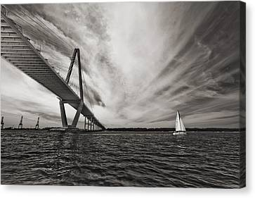 Arthur Ravenel Jr. Bridge Over The Cooper River Canvas Print