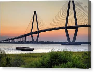 Arthur Ravenel Jr. Bridge Sunset Canvas Print by Dustin K Ryan
