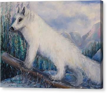 Artic Fox Canvas Print