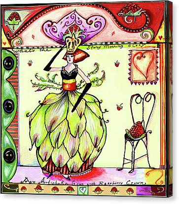 Culinary Canvas Print - Artichoke Dress by Wendy Costa