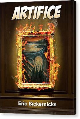 Seurat Canvas Print - Artifice Book Cover by Eric Bickernicks