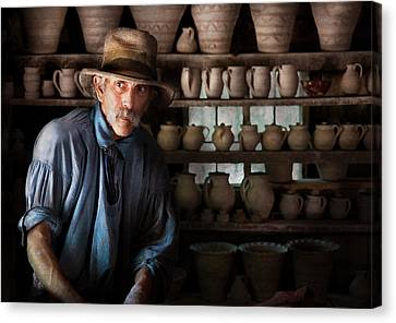 Artist - Potter - The Potter II Canvas Print by Mike Savad