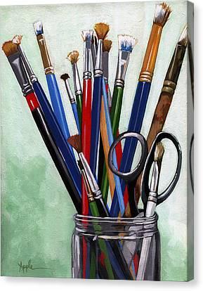Artist Brushes Canvas Print
