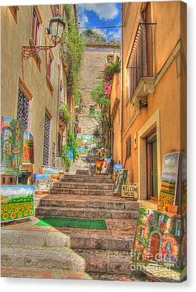 Artist Gallery In Sicily Canvas Print