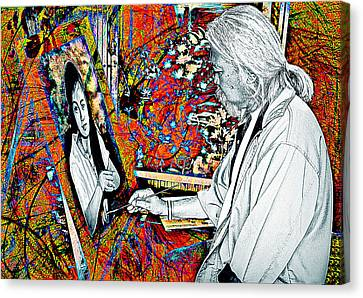 Artist In Abstract Canvas Print