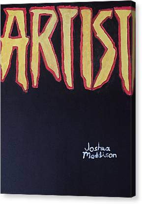 Artist 2009 Movie Canvas Print by Joshua Maddison