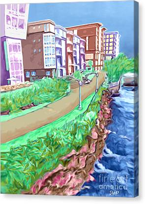 Artist Row Canvas Print by Rachelle Petersen
