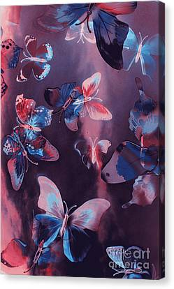 Artistic Colorful Butterfly Design Canvas Print