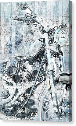 Artistic Ride Blue Canvas Print