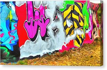 Artistic Surreal Graffiti Wall Canvas Print