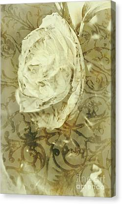 Artistic Vintage Floral Art With Double Overlay Canvas Print by Jorgo Photography - Wall Art Gallery