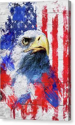 4th July Canvas Print - Artistic Xliii - American Pride by TMarchev